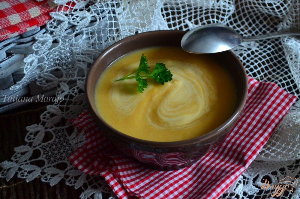 Фото приготовление рецепта: Суп-пюре из тыквы с корневым сельдереем шаг №6