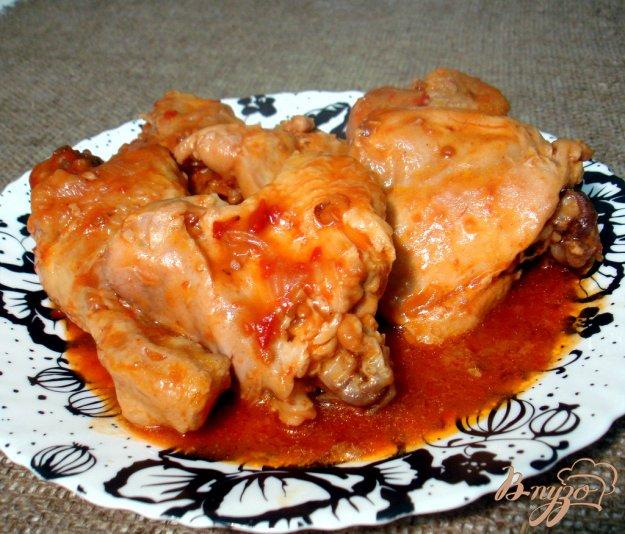 фото рецепта: Курица в томатно - луковом соусе