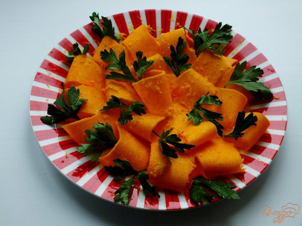 Фото приготовление рецепта: Тыквенный салат с петрушкой шаг №3