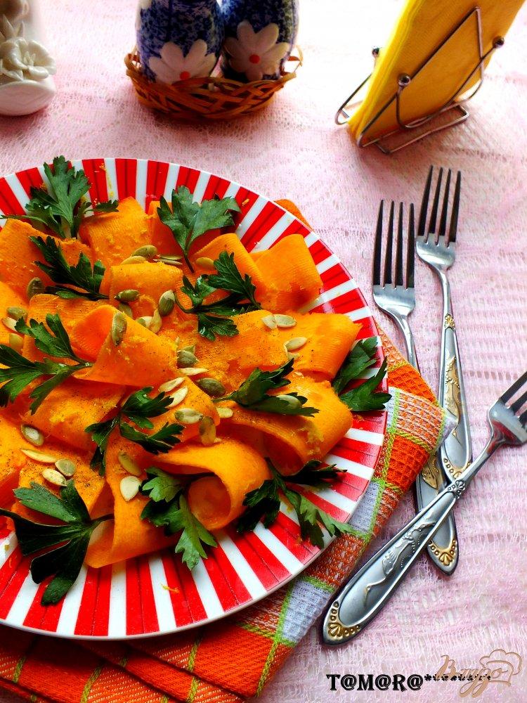 Фото приготовление рецепта: Тыквенный салат с петрушкой шаг №4