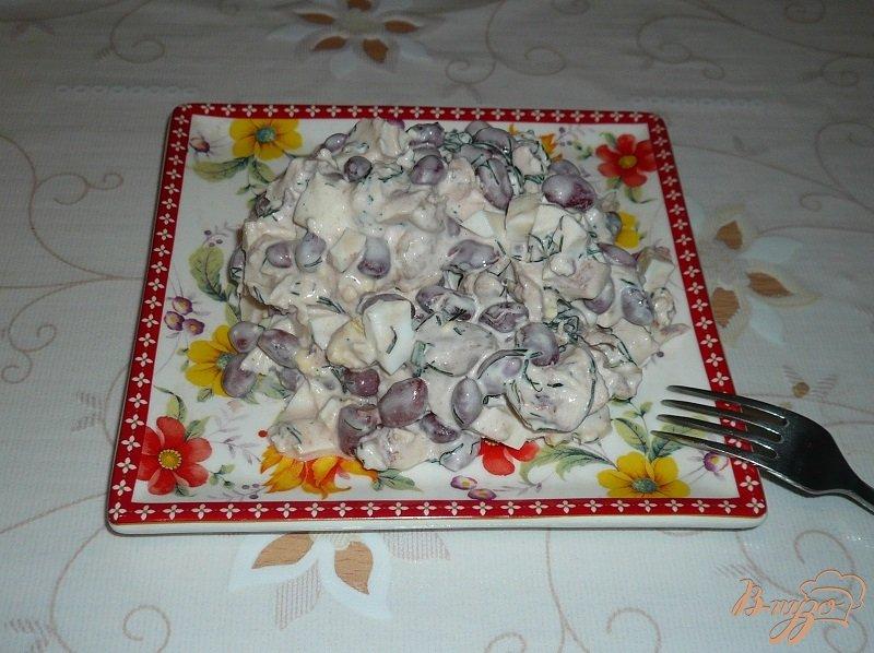 Фото приготовление рецепта: Салат с красной фасолью шаг №5
