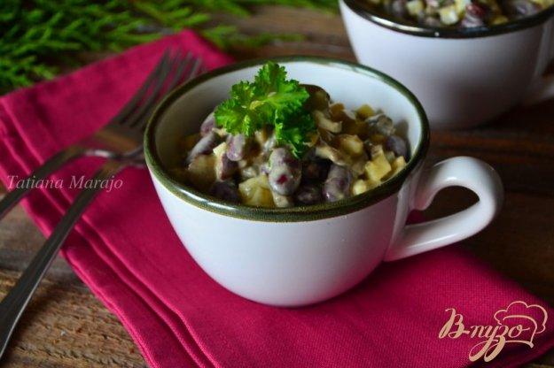 Рецепт Грибной салат с красной фасолью