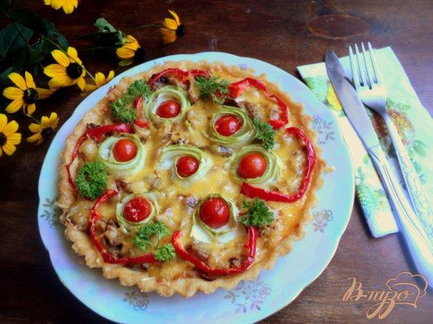 Рецепт Тарт с грибами и овощами