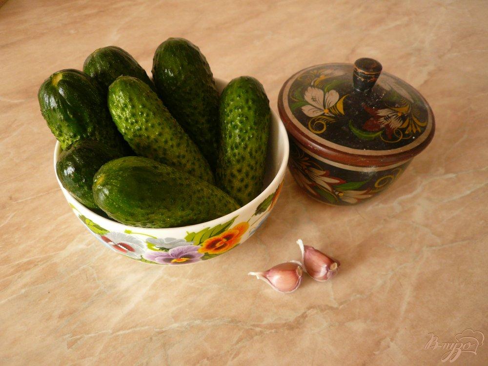 Фото приготовление рецепта: Малосольные огурчики в пакете шаг №1