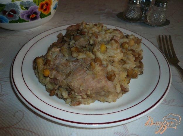 Рецепт Свиное рагу с горохом и чечевицей