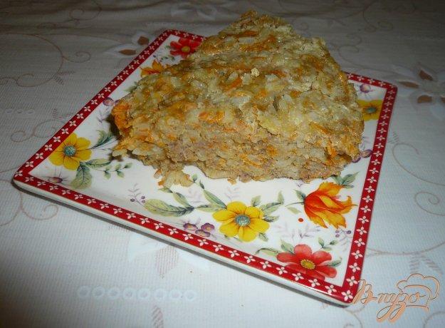 Рецепт Запеканка из фарша с рисом и морковью в мультиварке