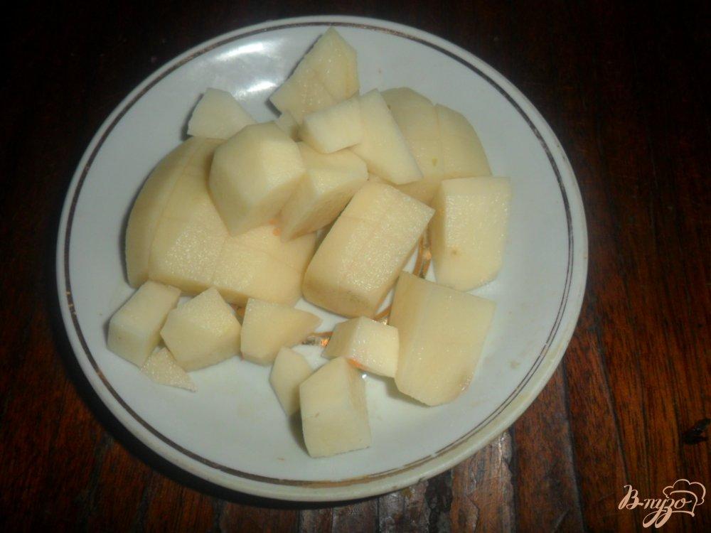 Фото приготовление рецепта: Суп с куриным жиром шаг №4