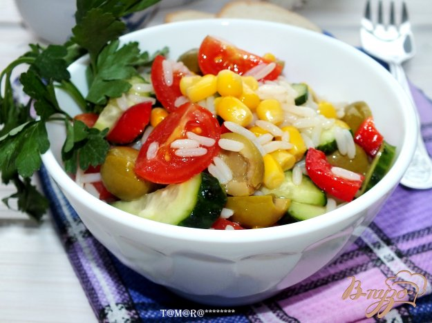 Рецепт Рисовый салат с овощами