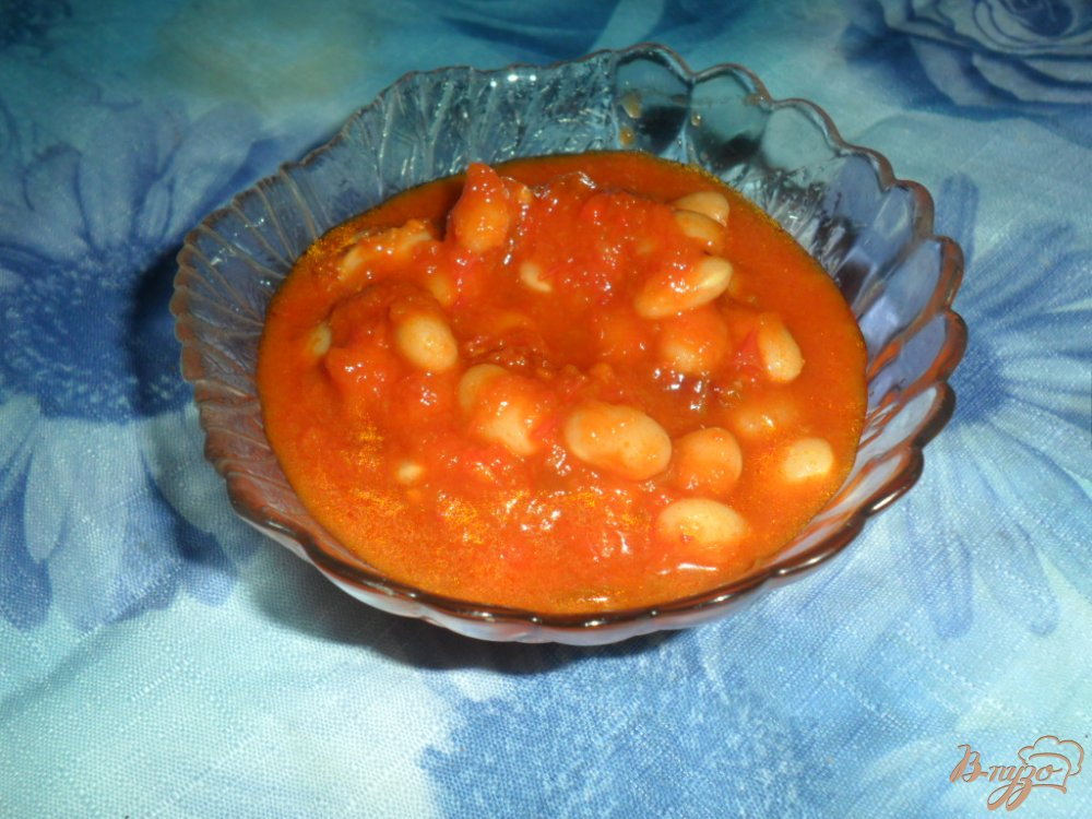 Фото приготовление рецепта: Фасоль на зиму в красном соусе шаг №6