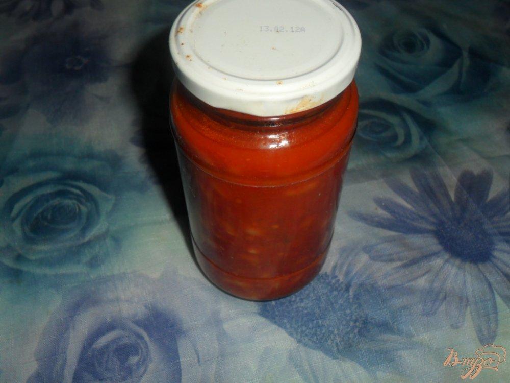 Фото приготовление рецепта: Фасоль на зиму в красном соусе шаг №5