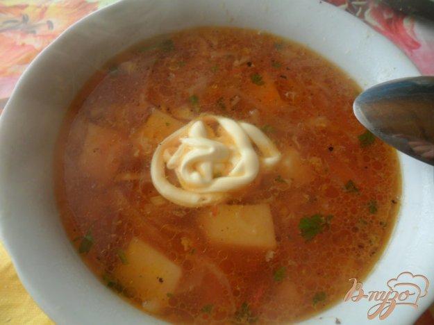 фото рецепта: Куриний красный борщ с болгарским перцем и помидорами