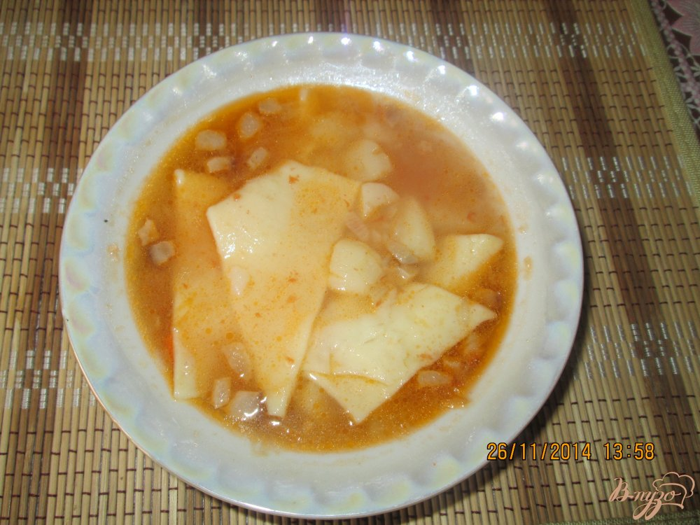 Фото приготовление рецепта: Суп с галушками без мяса шаг №6