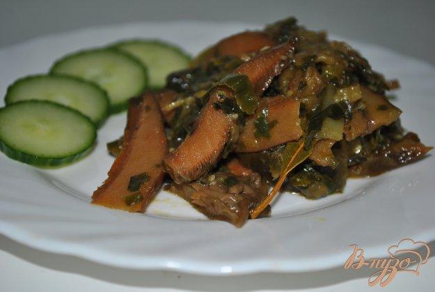 Рецепт Тушеные грибы-вешенки с капустой