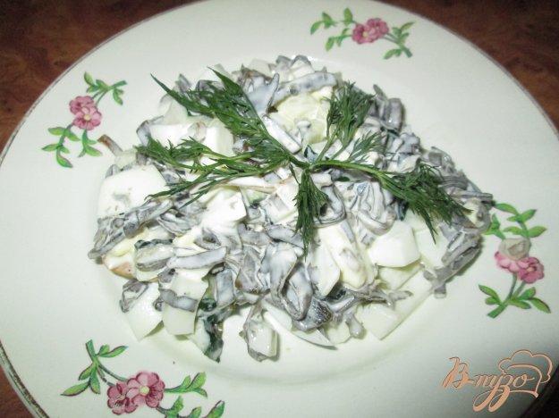 Рецепт Салат с морской капустой, яйцом и огурцом