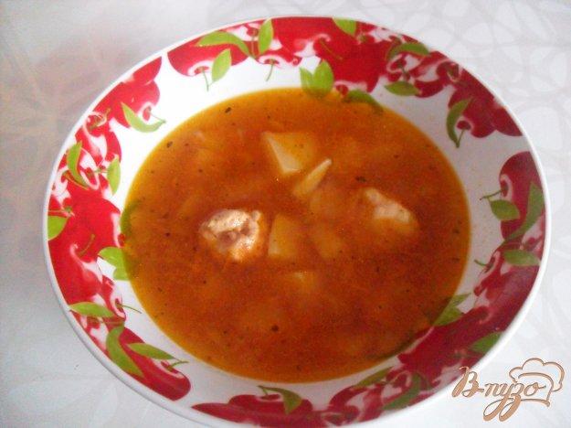 Рецепт Томатный суп с фрикадельками