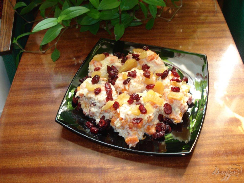 Фото приготовление рецепта: Запеканка тыквенно-рисовая с цукатами шаг №3