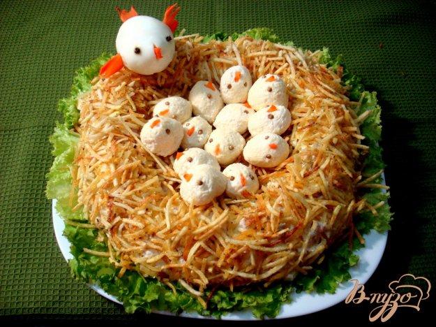 Рецепт Салат гнездо глухаря
