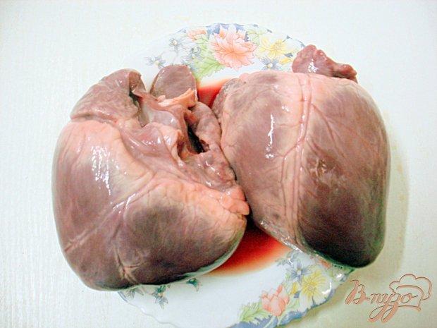 Сердце в томатно - перечном соусе