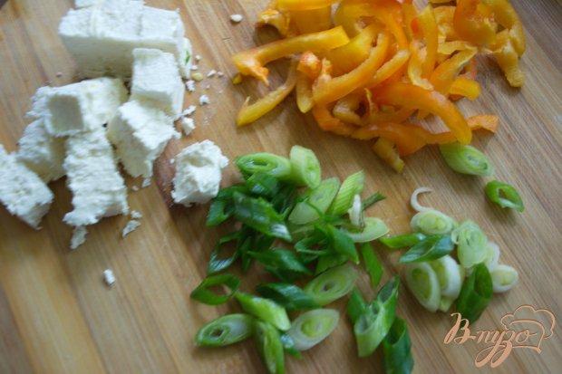Омлет с болгарским перцем и брынзой в духовке