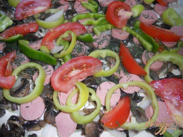 Пицца с жареными грибами