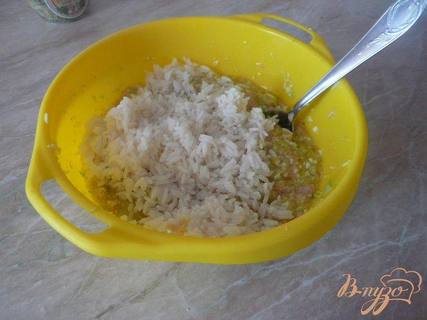 Куриная запеканка с рисом и кабачками