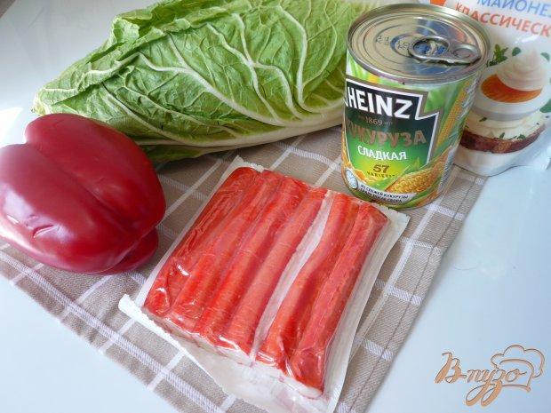 Салат с крабовыми палочками и болгарским перцем
