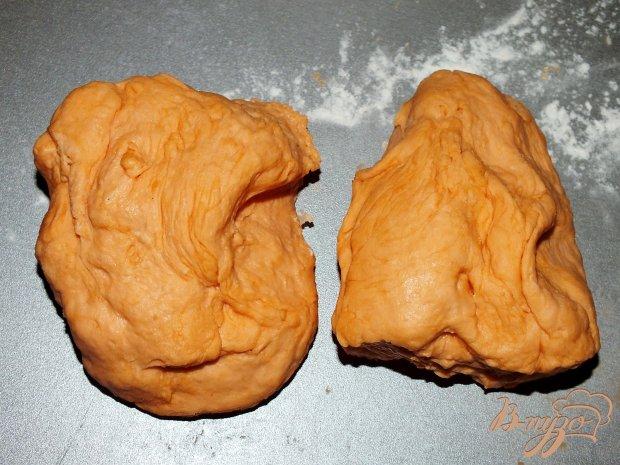 Картофельный пирог на томатном тесте