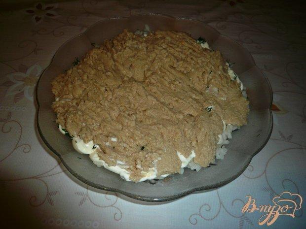 """Салат """"Нежный"""", с печенью трески"""