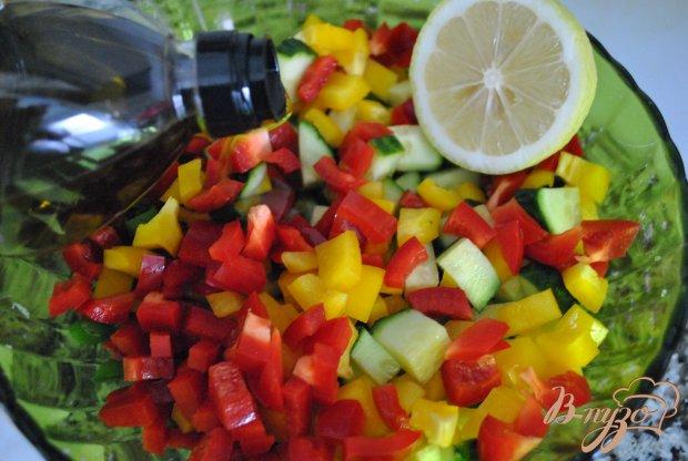 Салат из перцев и зелени