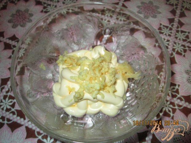 Салат из свеклы  и чесноком