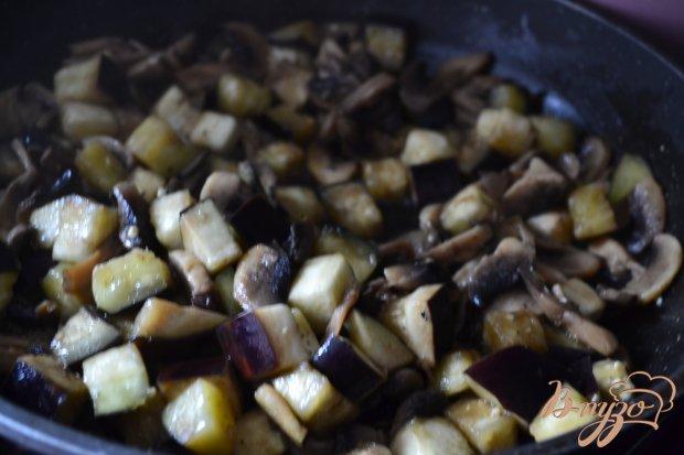Сливочный суп с баклажанами, грибами и нутом