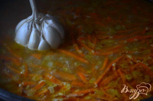 Плов из трех круп с кальмарами