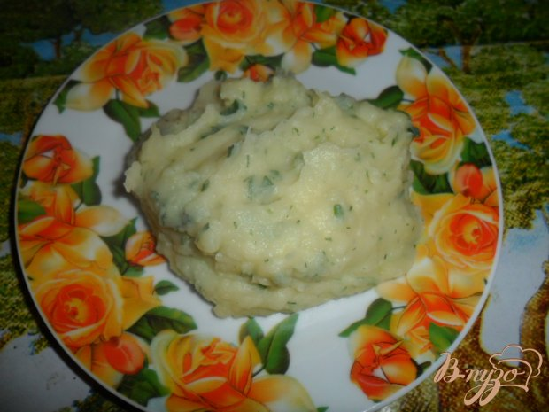 Карофельное пюре с зеленью