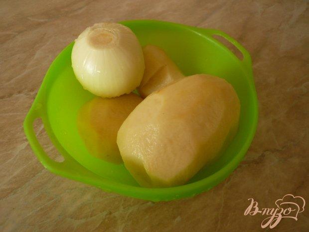 Картофель с луком и укропом