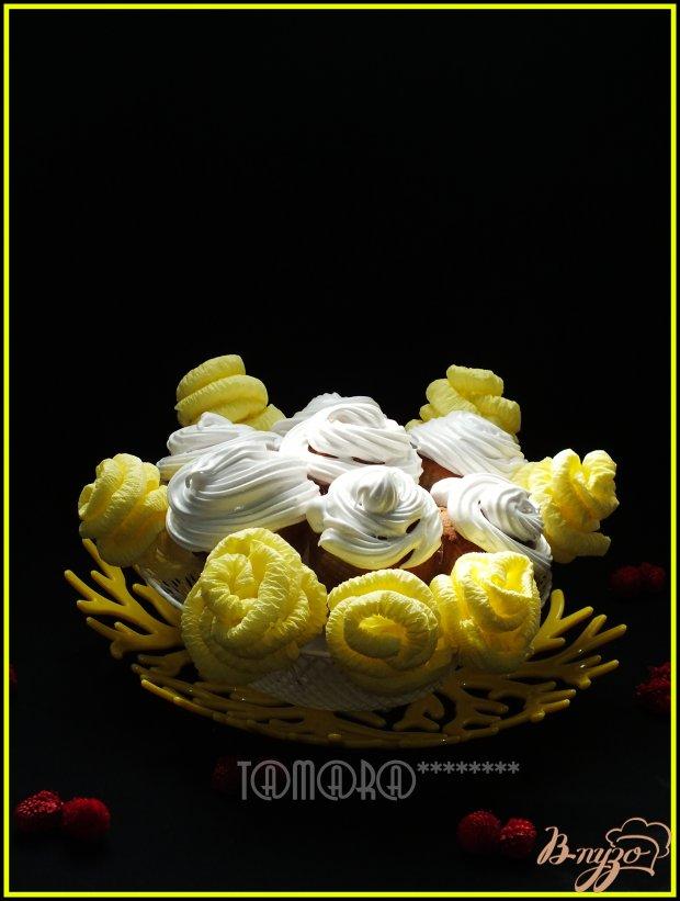Кексы-розы на желтках
