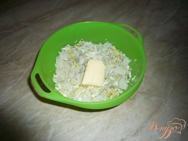 Гарнир из риса с яйцом и сливочным маслом