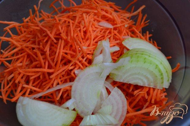 Острый морковный салат с нутом