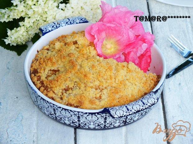 Пирог с абрикосами и штрейзелем