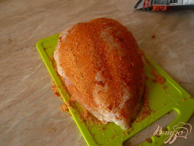 Куриная грудка с гарниром из цветной капусты
