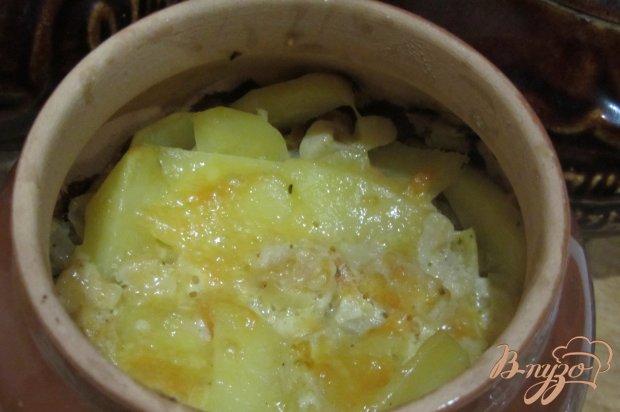 Картофель запечный в горшочках с шафраном.