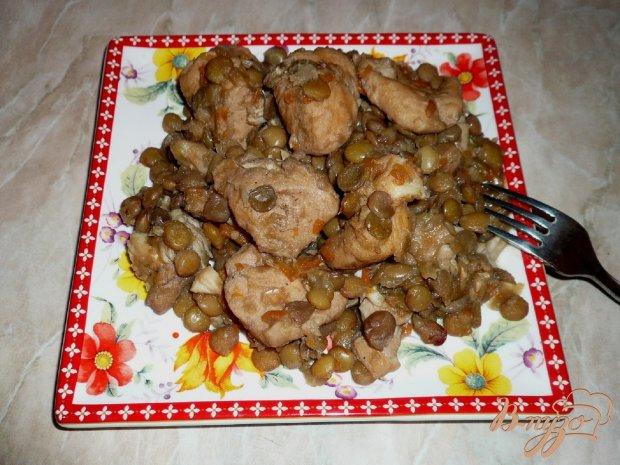 Куриное мясо с чечевицей в мультиварке