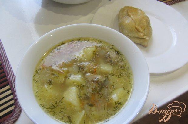 Суп куриный с перловкой без за жарки
