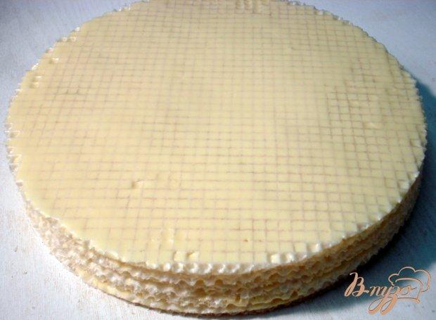 Вафельный тортик с малиной