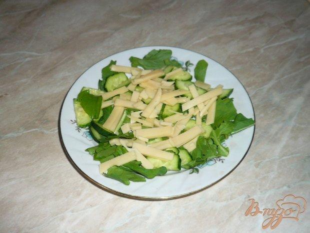 Свежий салат с сыром