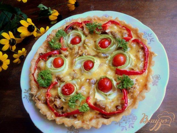 Тарт с грибами и овощами