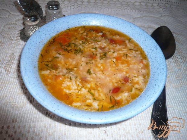 Острый рисовый суп с фасолью