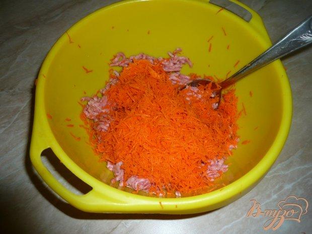 Запеканка из фарша с рисом и морковью в мультиварке