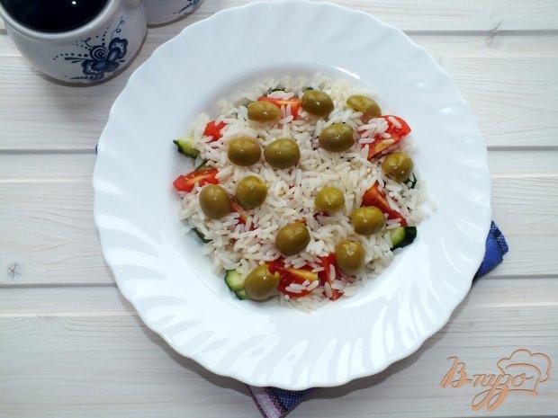 Рисовый салат с овощами