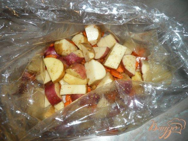 Курочка с овощами в пакете для запекания