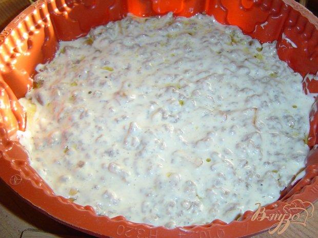 Заливной мясной пирог с грибами